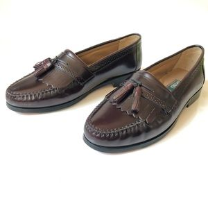 Bass Niles Brown Leather Tassel Loafer, Size 10.5